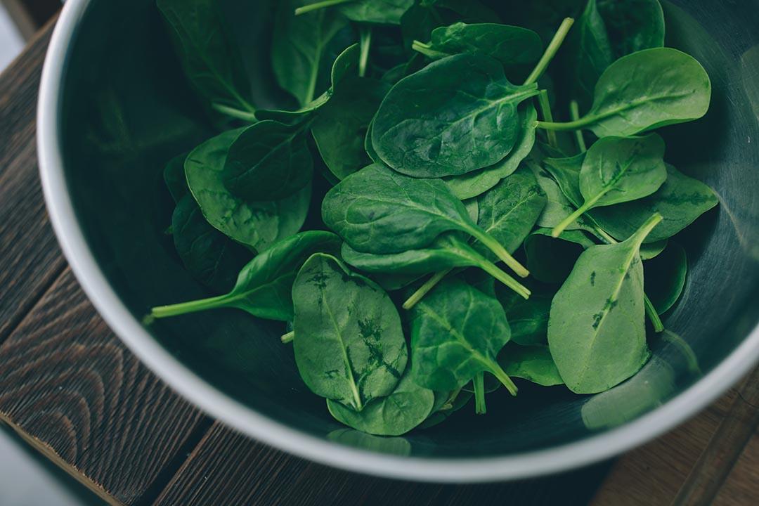 5)菠菜洗淨瀝乾水份後與紅菜頭醬拌勻。攝:王嘉豪/端傳媒
