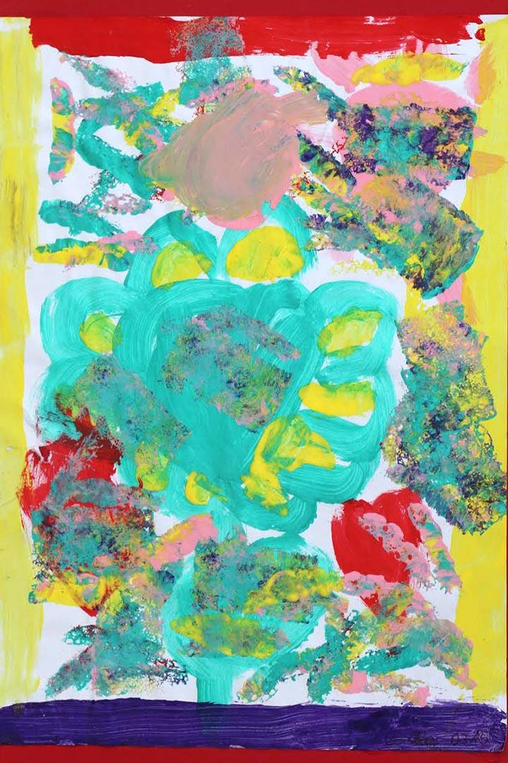 插畫:《彩色的幼兒園》,作者Ka (卡乎的女兒)