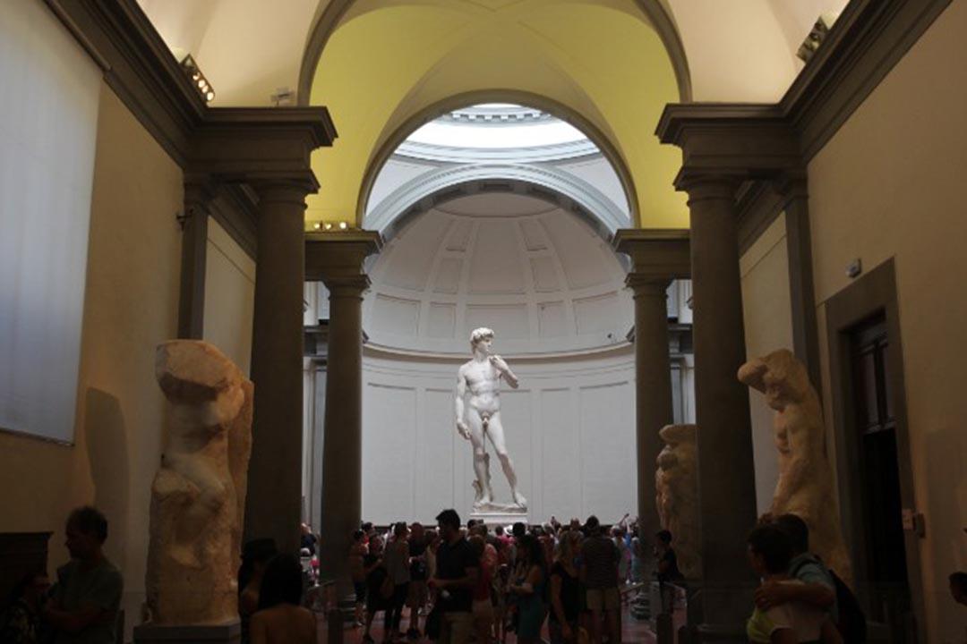 佛羅倫斯美術學院美術館收藏米高安哲羅(米開朗基羅)的「大衛像」。攝:Fredrik von Erichsen/dpa