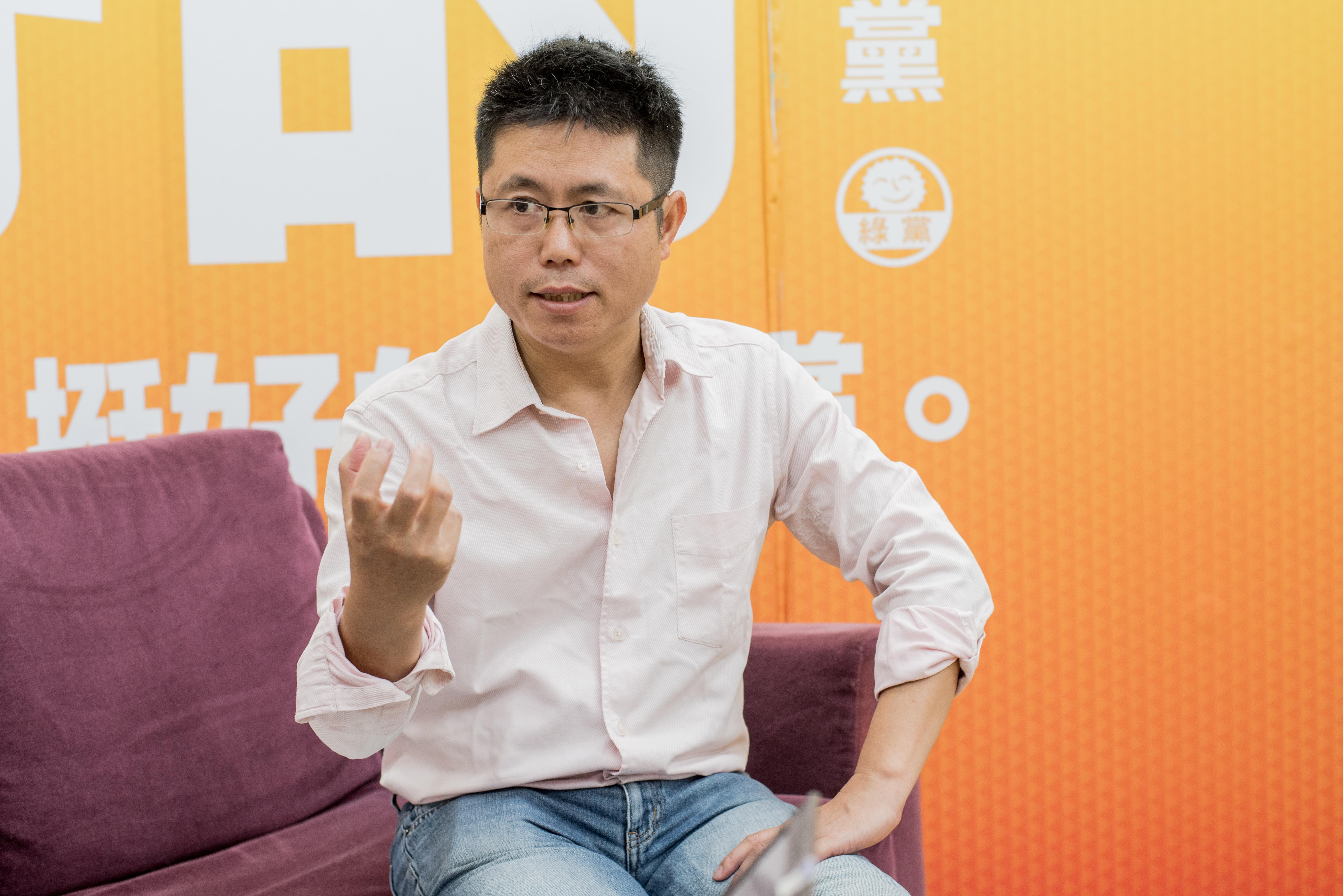 地球公民基金會執行長李根政。攝: Arron Peng/ 端傳媒