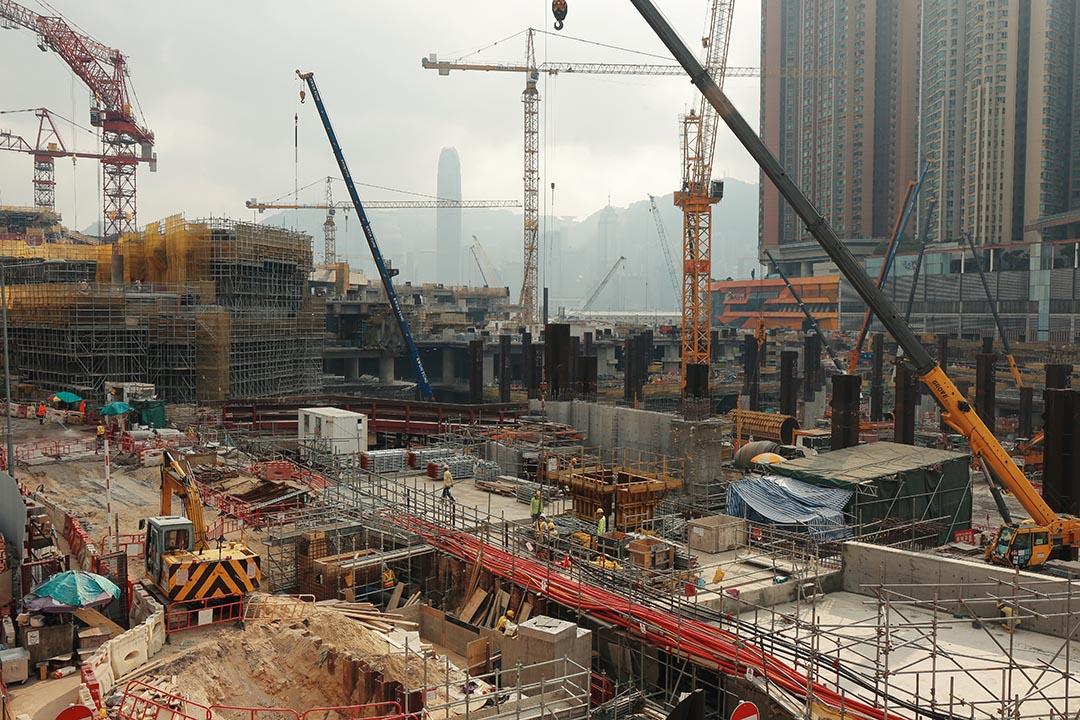 圖為高鐵香港段在西九龍的施工現場。攝:王嘉豪/端傳媒