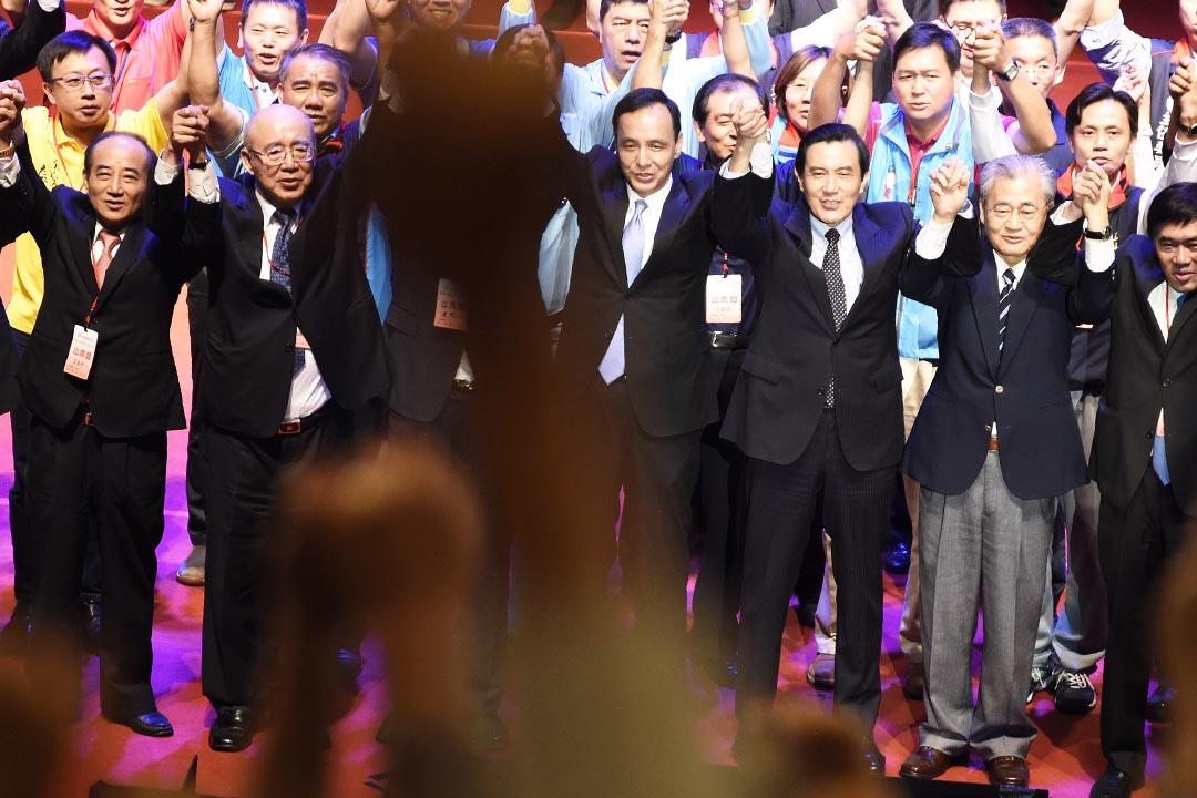 台灣總統馬英九與國民黨2016總統選舉候選人朱立倫。攝:陳弘岱/端傳媒