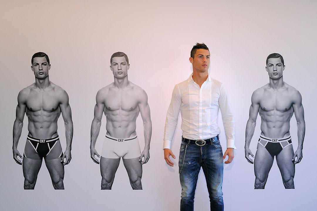 基斯坦奴朗拿度在西班牙馬德里出席個人內衣品牌宣傳活動。攝: Denis Doyle/GETTY