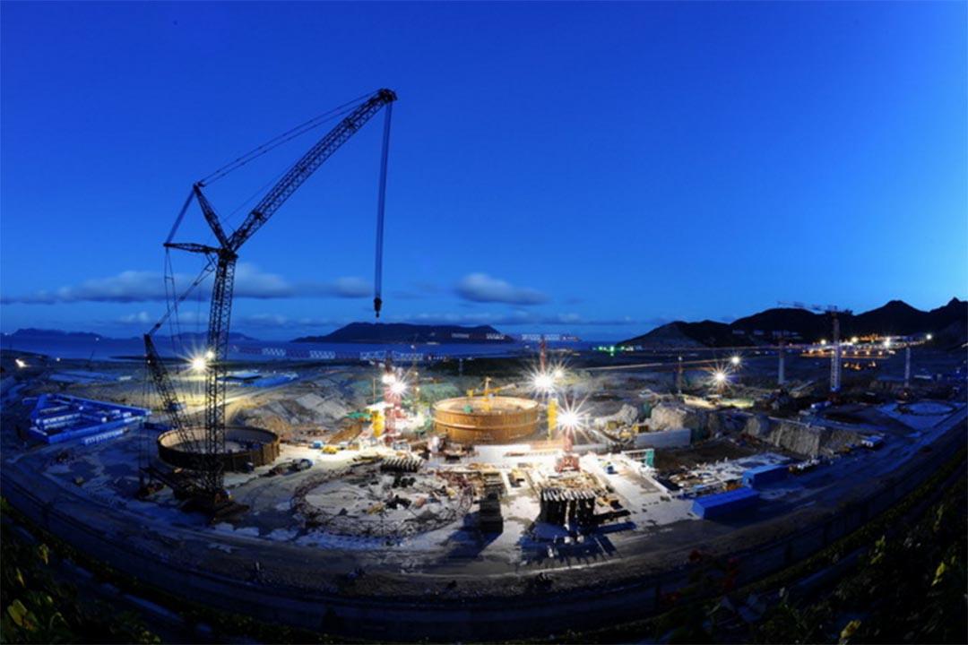興建中的台山核電廠。台山核電合營有限公司網頁圖片