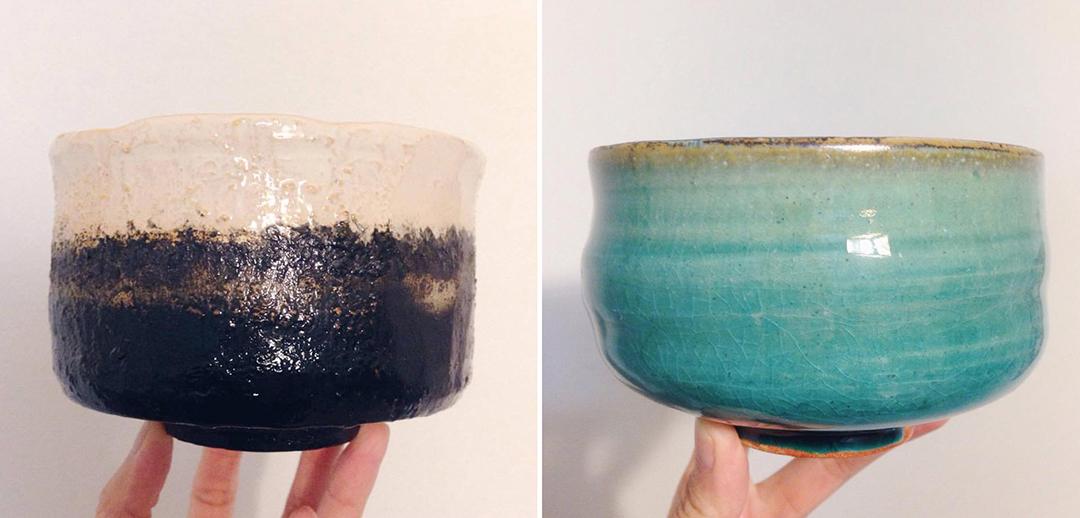 我在陶藝教室中做的茶碗。林琪香攝