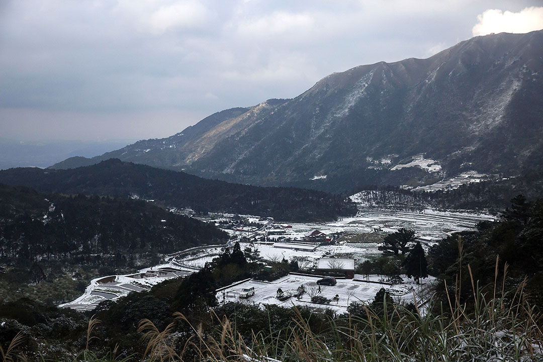 2016年1月25日,台灣陽明山被大雪覆蓋。攝:Billy H.C. Kwok/GETTY