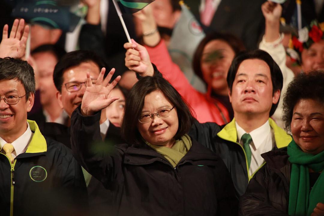 2016年1月16日,台北,蔡英文當選台灣總統。攝:Billy H.C. Kwok/端傳媒