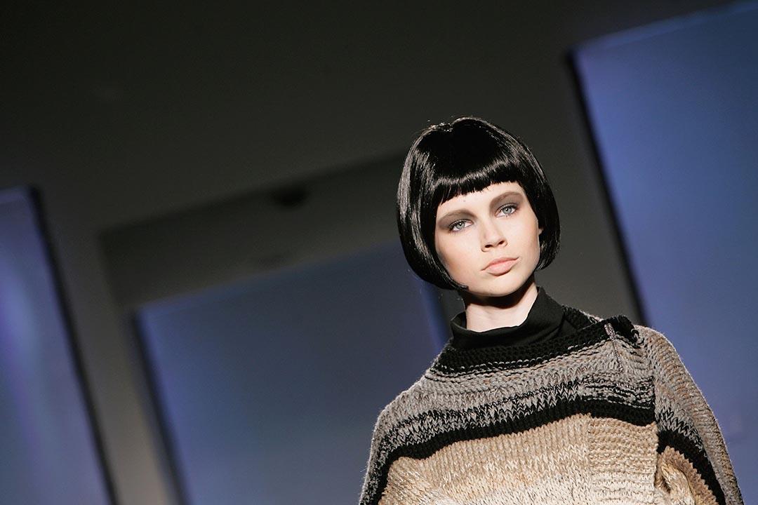 剪了bob頭的模特兒參與倫敦時裝周。攝:Gareth Cattermole/GETTY