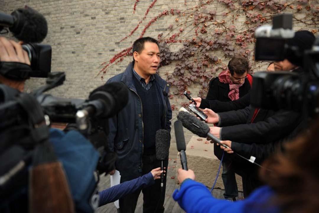 中國維權律師浦志強。攝:Peter PARKS / AFP