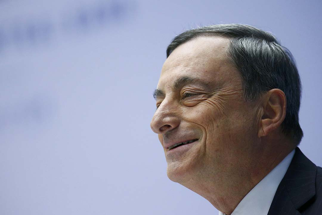 歐洲央行推出了一系列的經濟刺激措施,但不及市場預期。圖為歐洲央行行長德拉吉(Mario Draghi)。攝:Ralph Orlowski/REUTERS