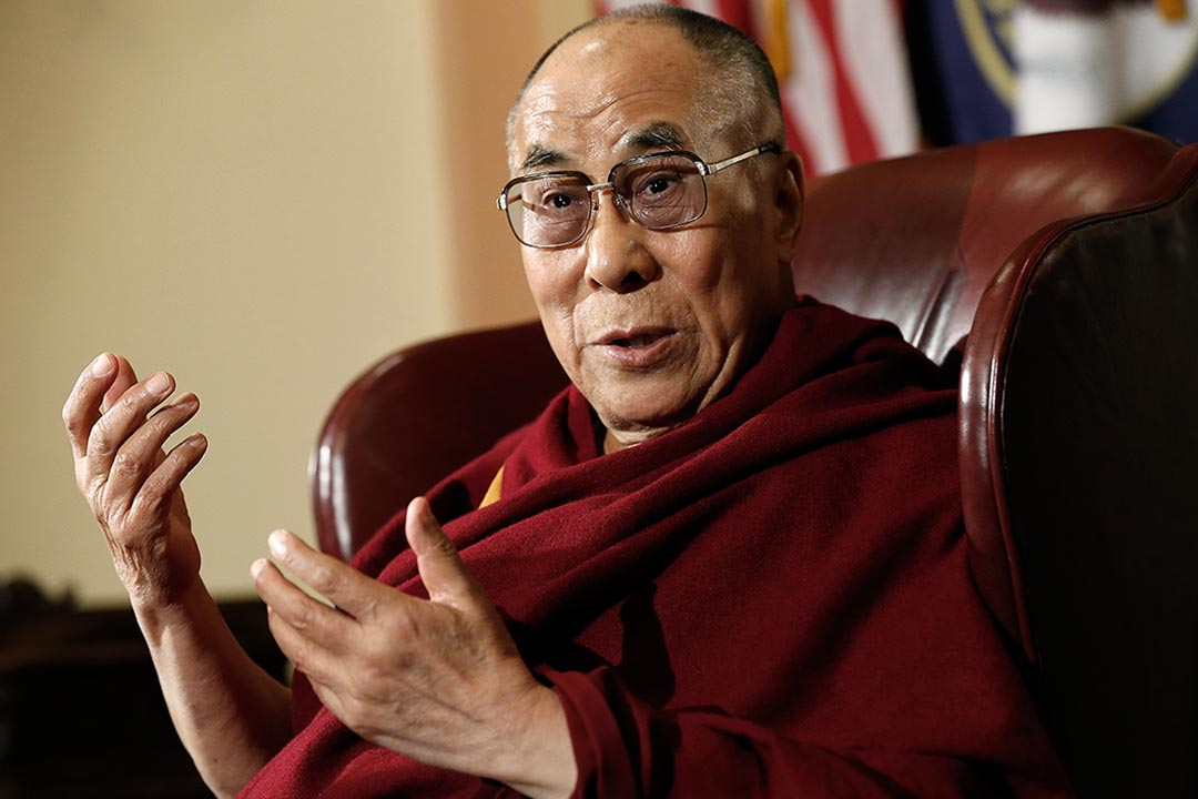 2014 年3月 達賴喇嘛與美國議員在國會山會面。攝: Win McNamee/GETTY