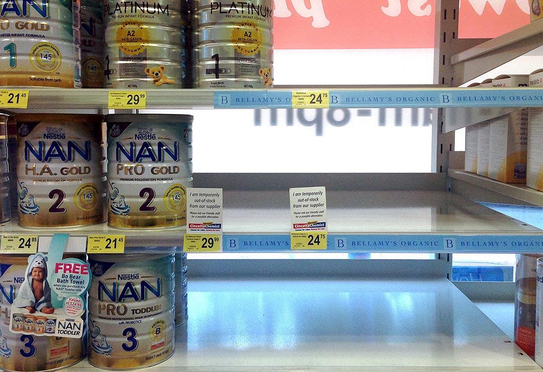 中國「雙11」購物節過後,澳洲多家超市開始實施奶粉限購措施。攝 : David Gray/REUTERS