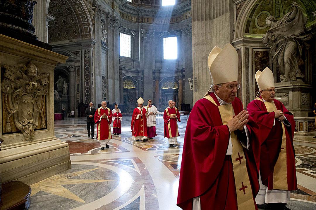 2015年11月3日,教宗方濟各在主持彌撒。攝:Gregorio Borgia/Pool/REUTERS