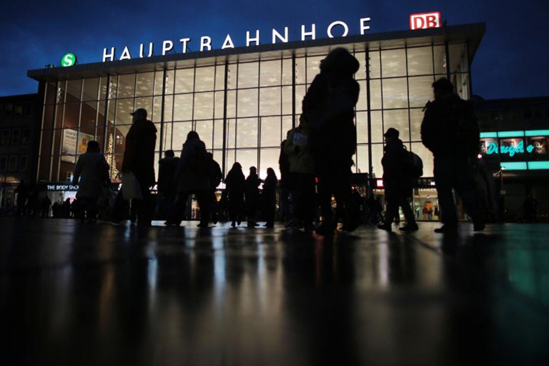 2015年12月31日晚,科隆火車站和大教堂附近發生大規模性侵及搶劫案件,圖為科隆火車站。攝:OLIVER BERG/DPA