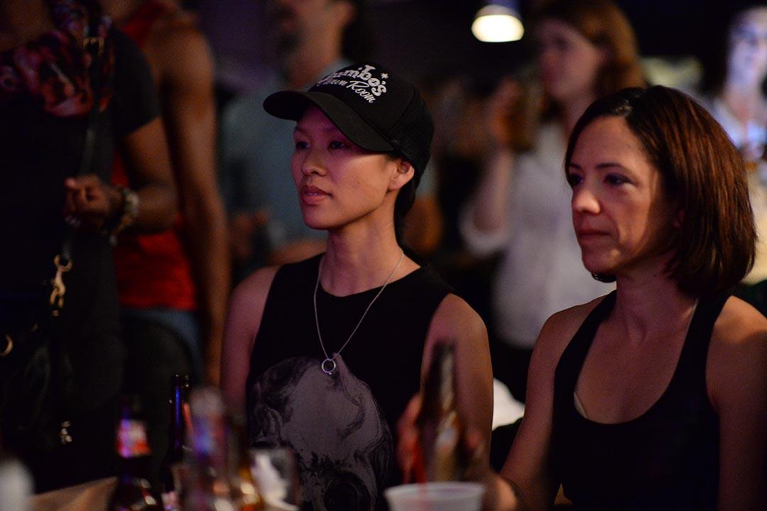 女模特邊思恩(左)是「Mars One」的火星宇航員選拔中成為百人決選名單中的一員。受訪者提供
