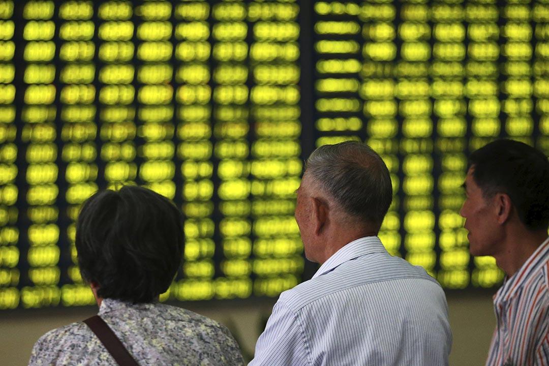 中國場外配資清理大限將至,本周股市連續暴跌。攝:China Daily/REUTERS