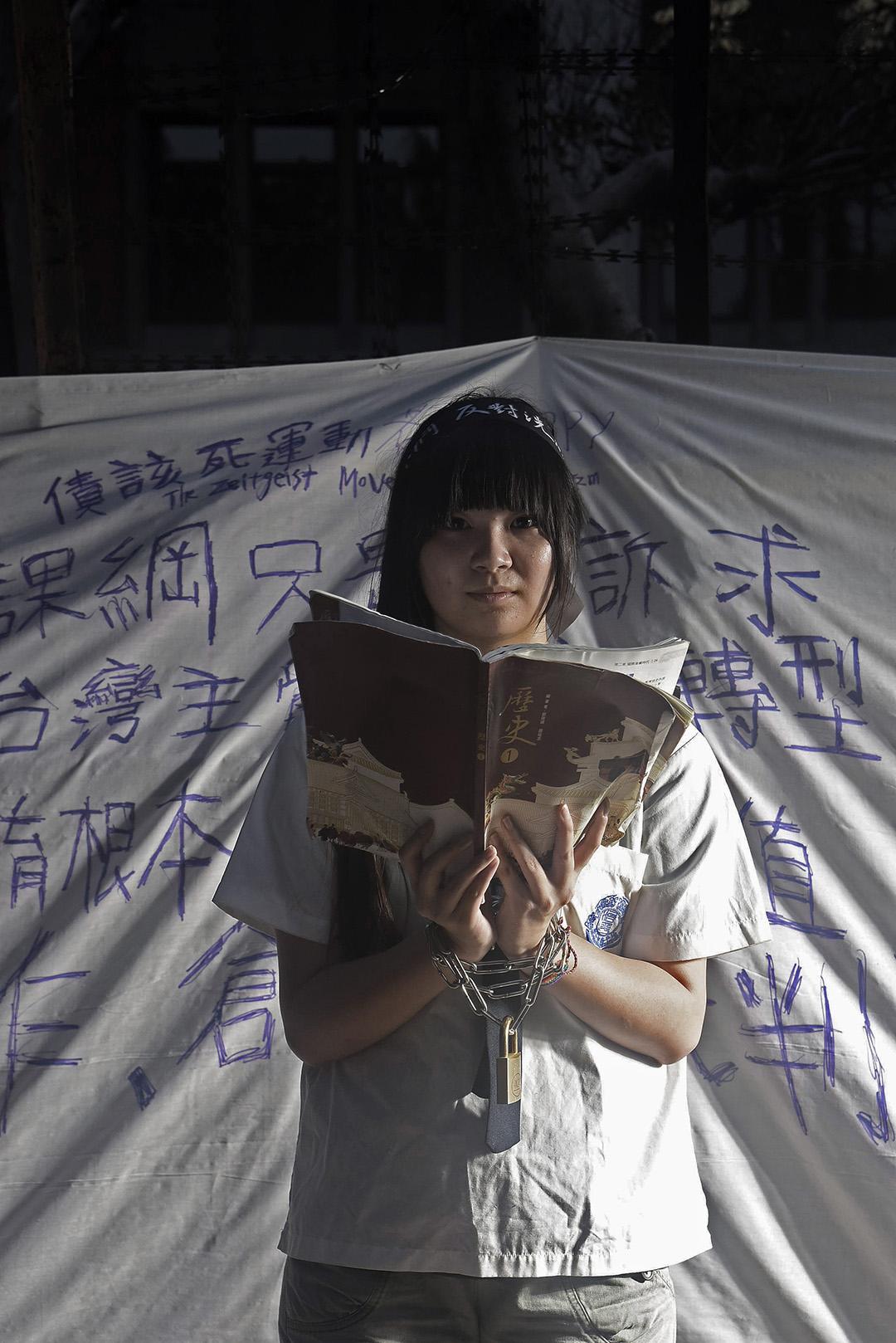 反課綱微調學生群像。 攝:陳弘岱/端傳媒