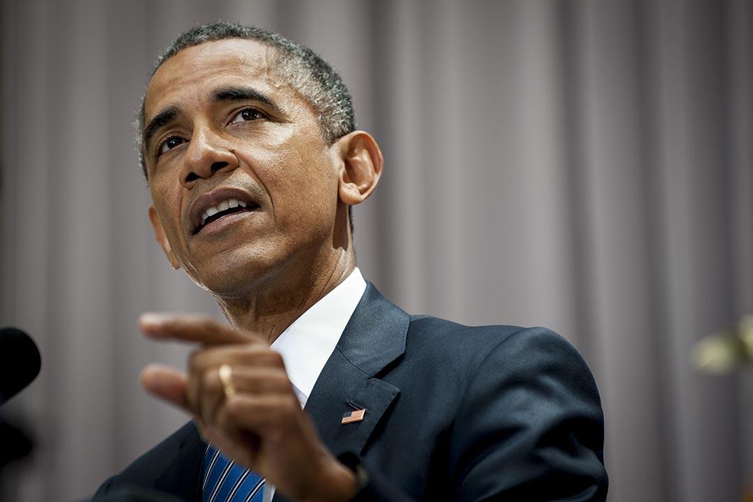 9月2日,第34位支持伊朗核協議的美國參議員產生;因此即便國會反對,美國總統奧巴馬仍可通過相關決議。攝 : Pete Marovich/Pool/Bloomberg