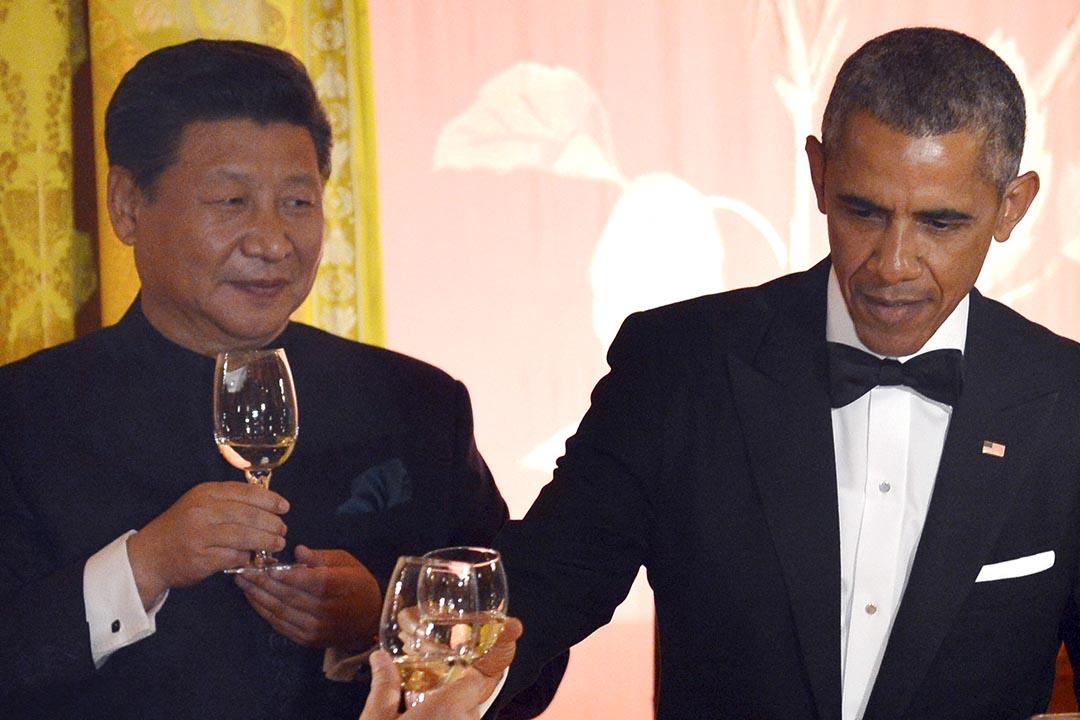 中國國家主席習近平應美國總統奧巴馬邀請出席白宮舉行的國宴。攝:Mike Theiler/REUTERS