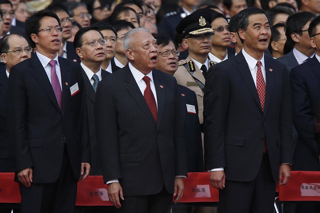 中聯辦主任張曉明指香港行政長官擁有行政,立法,司法之上的特殊地位。 攝:Bobby Yip /REUTERS