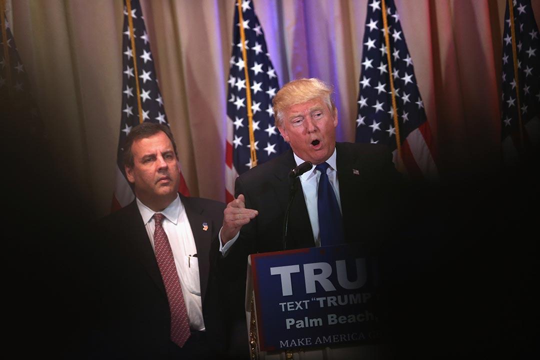 共和黨總統参選人特朗普接受媒體訪問。攝 : John Moore/GETTY