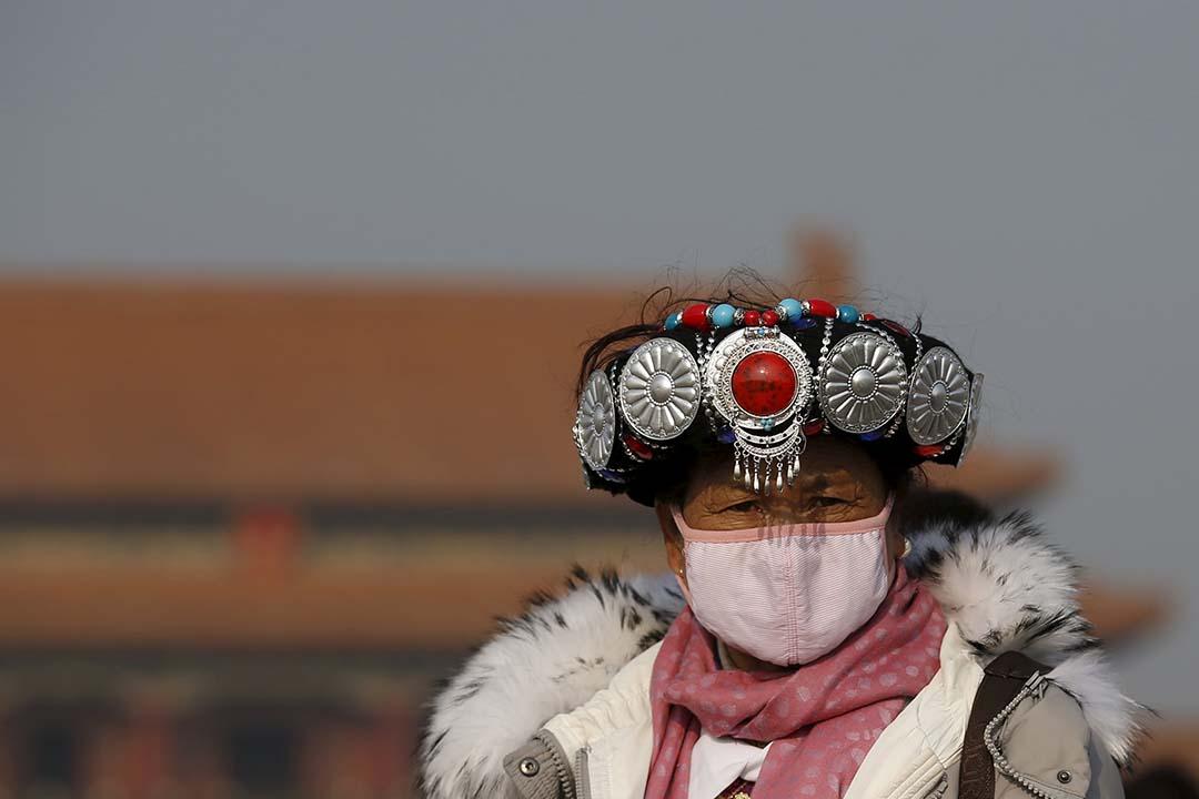 北京今年來首次啟動空氣重污染橙色預警。攝:Kim Kyung-Hoon/REUTERS