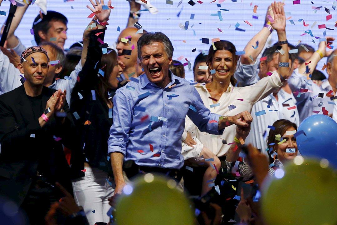 阿根廷總統大選中,中間偏右的反對黨候選人馬克里(Mauricio Macri)勝選。攝:Ivan Alvarado/REUTERS
