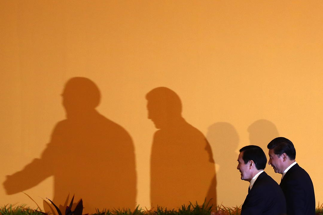 兩岸分治66年來,兩岸領導人中國國家主席習近平與台灣總統馬英九進行歷史性會面。攝:盧翊銘/端傳媒
