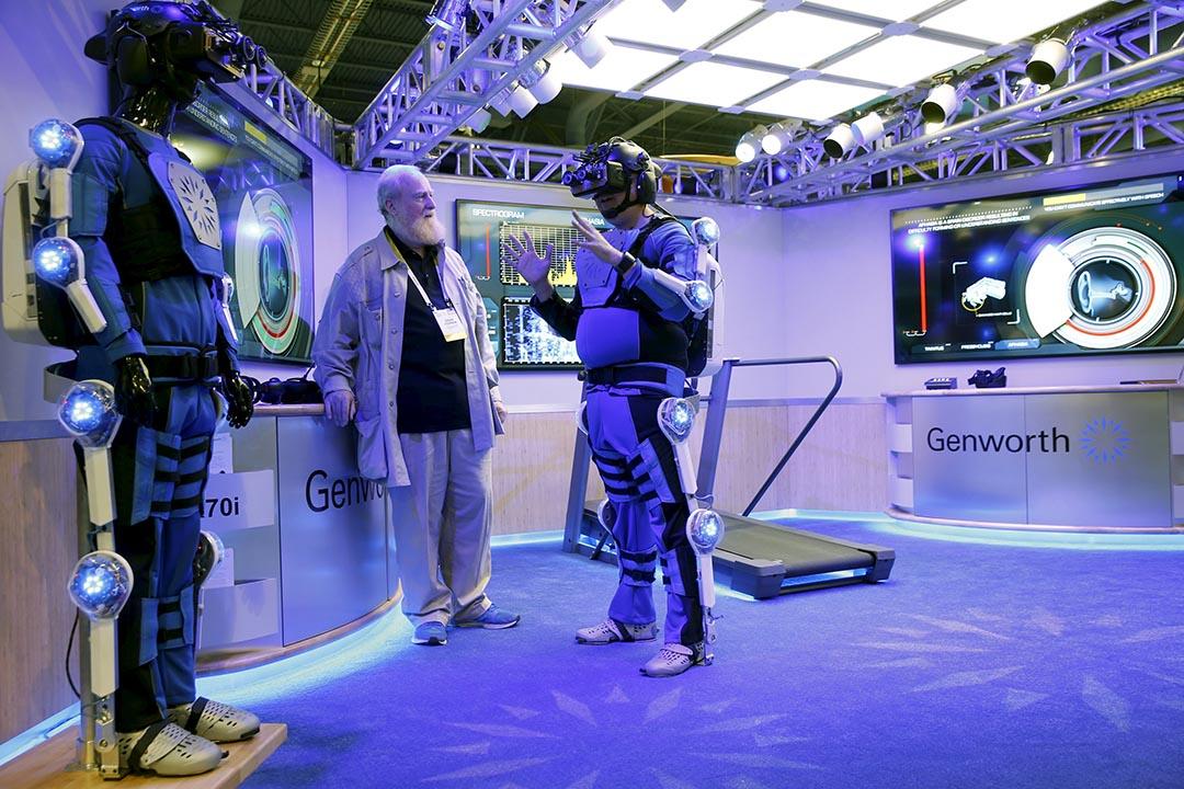 2016年美國拉斯維加斯國際消費類電子產品展覽會(CES)開幕。攝:Steve Marcus/Reuters