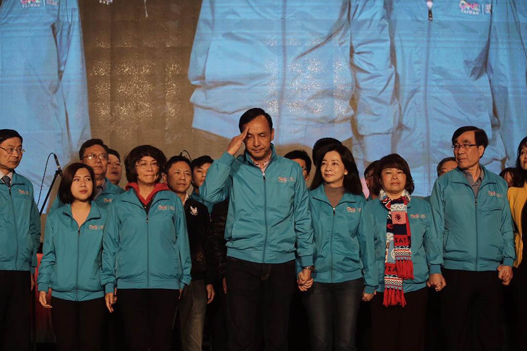2016年1月16日,台北,國民黨總統候選人朱立倫承認落敗。攝:Anthony Kwan/端傳媒