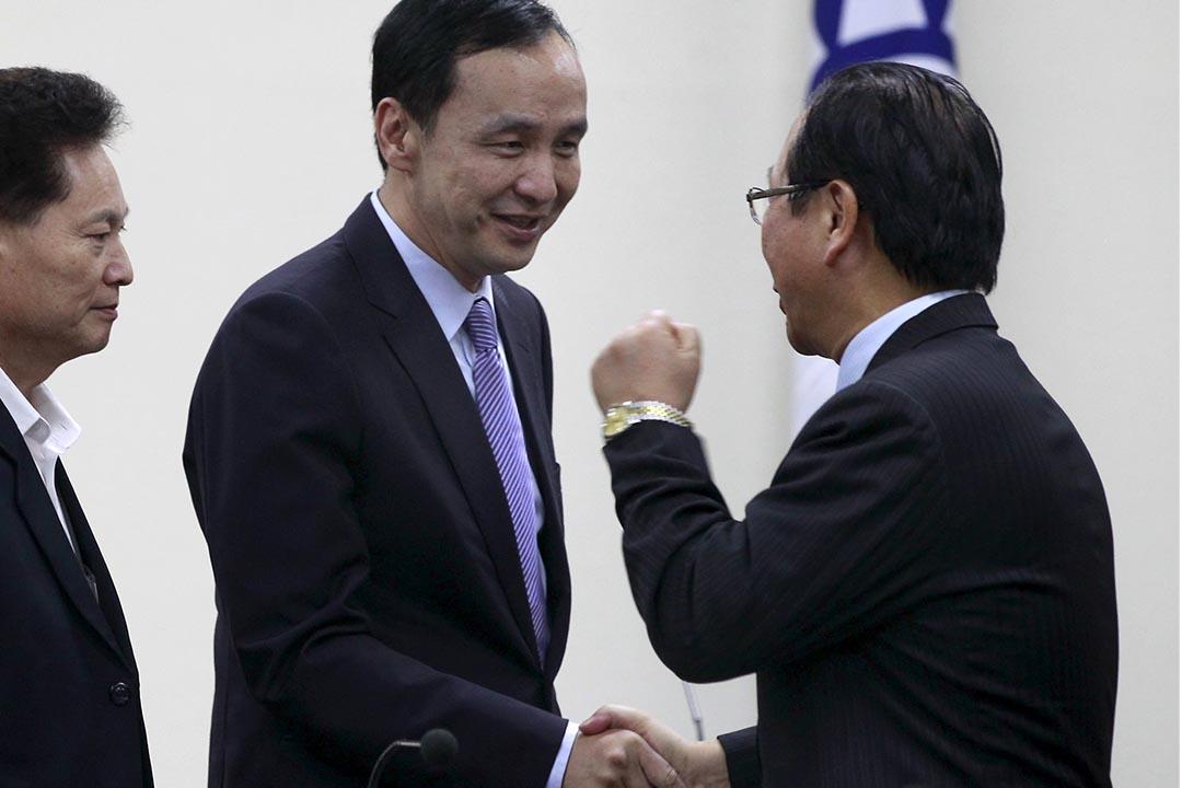 國民黨有意由主席朱立倫接替民意低落的洪秀柱參選。攝:Pichi Chuang/REUTERS