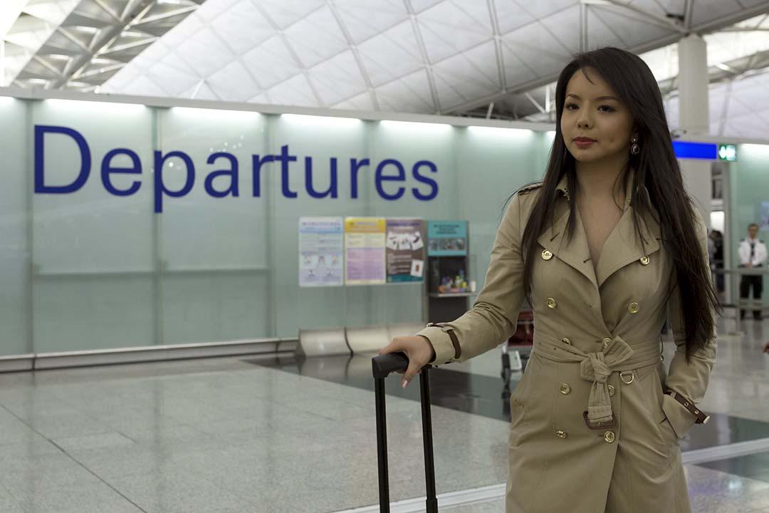 25歲的加拿大世界小姐林耶凡(Anastasia Lin)於香港轉機前往三亞時被拒,曾對中國人權狀況提出批評。攝:Tyrone Siu/REUTERS