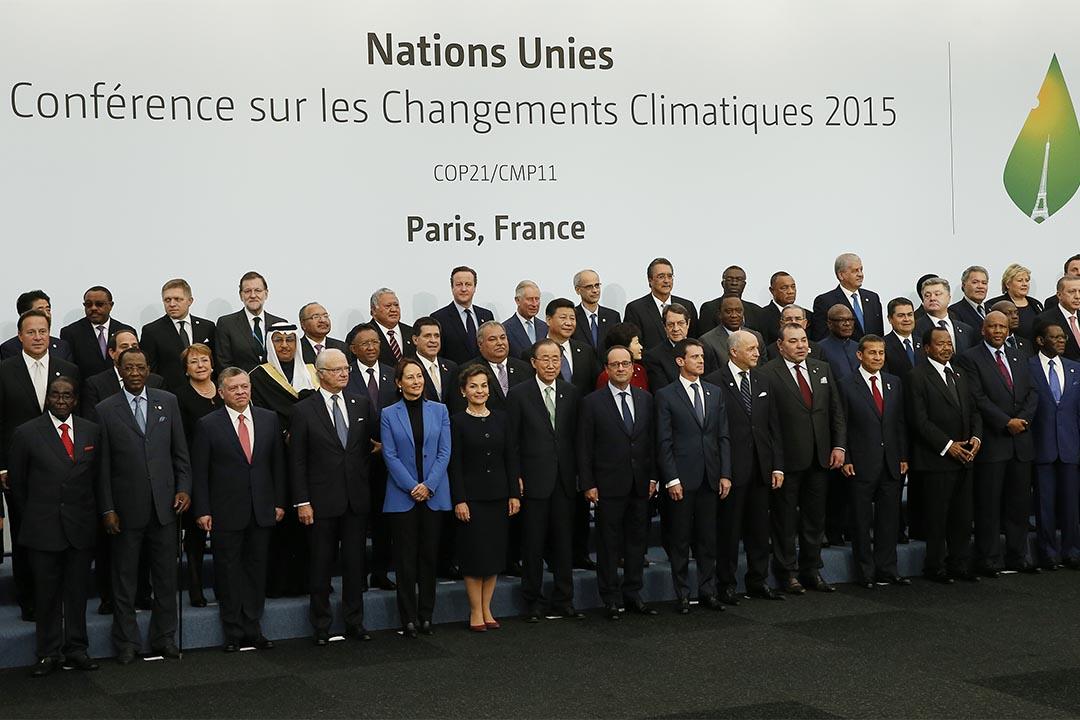 2015年11月30 日,《聯合國氣候變化框架公約》第21次締約方會議(COP21)在巴黎舉行。攝:Ian Langsdon/Pool via AP