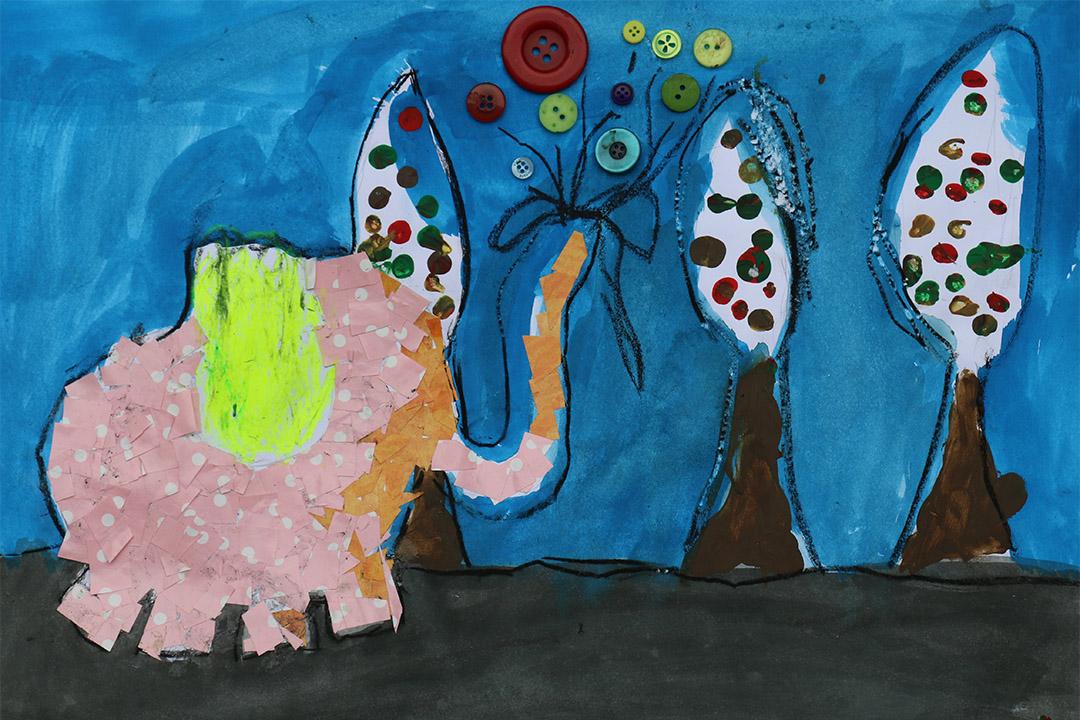 插畫:《大象在散步 》,作者  Ka(卡乎的女兒)