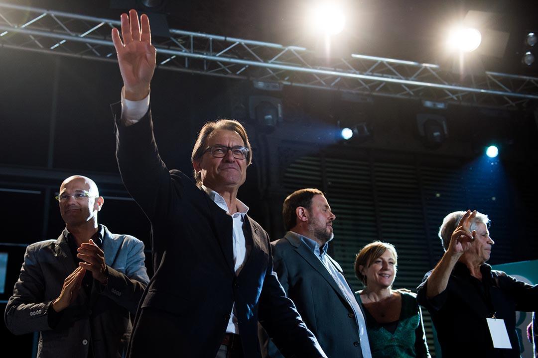 9月27日,西班牙加泰羅尼亞治區議會選舉,獨立派獲勝。攝 : Alex Caparros/GETTY