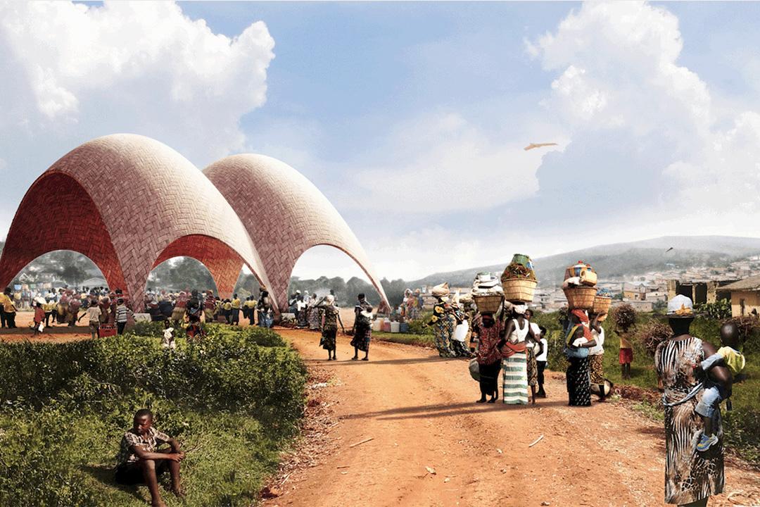 盧旺達建全球首個無人機機場模擬圖片。Foster + Partners圖片