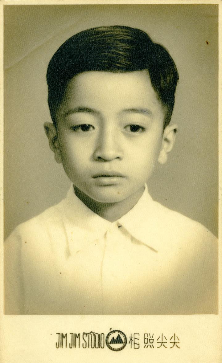 林國盛六歲時,他爸爸帶他到「尖尖」拍生平第一張學生照。相片由受訪者提供