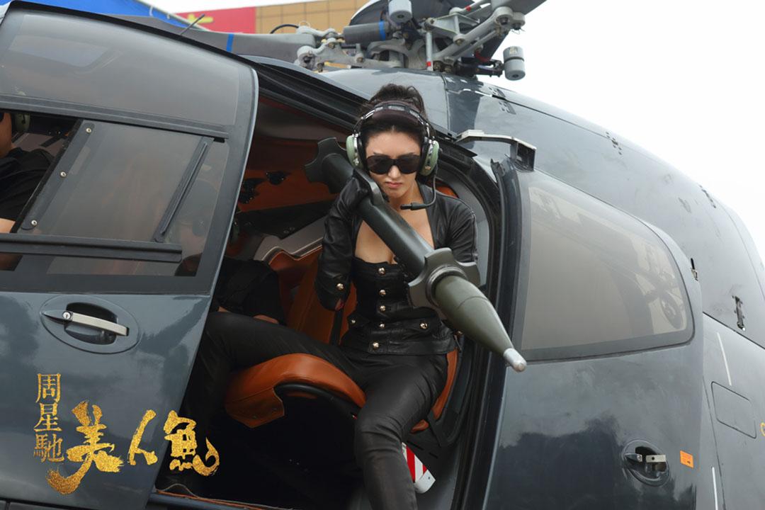大陸演員張雨綺在《美人魚》中扮演男主角漂亮性感的資本家拍擋兼潛在女友。