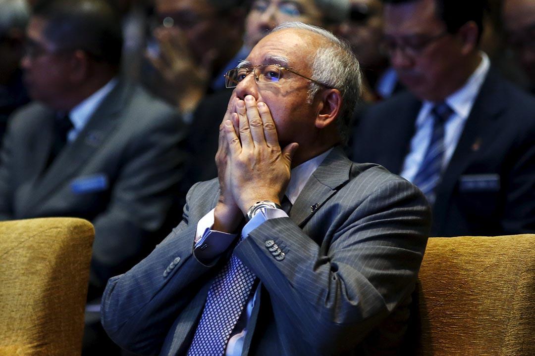 馬來西亞總理納吉。攝:Olivia Harris /REUTERS