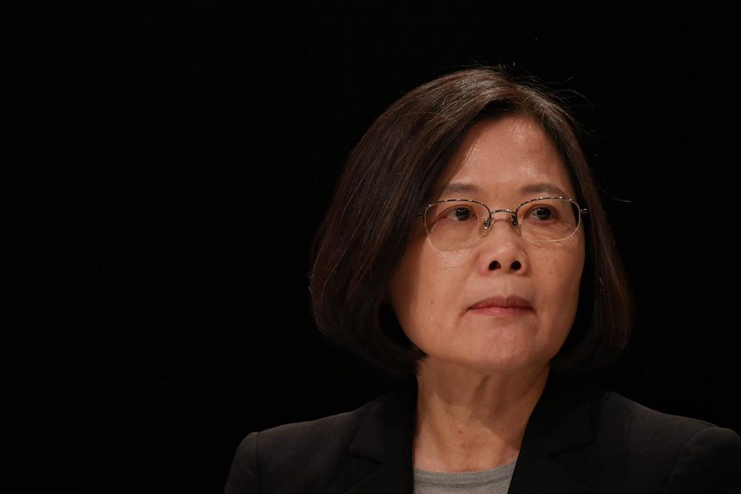台灣總統蔡英文批評中國大陸為「全球民主的威脅」、「反民主力量」,並呼籲國際社會挺身制衡大陸。 攝:Billy H.C. Kwok/端傳媒
