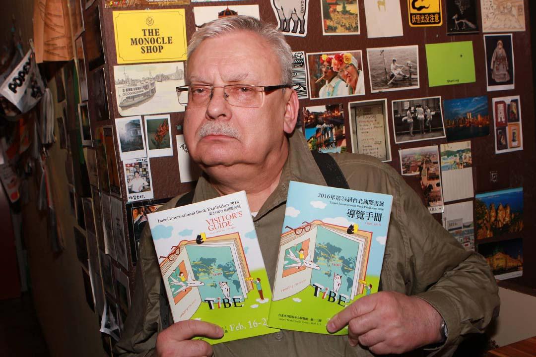 波蘭奇幻大師、《獵魔士》作者薩普科夫斯基。譚光磊提供相片
