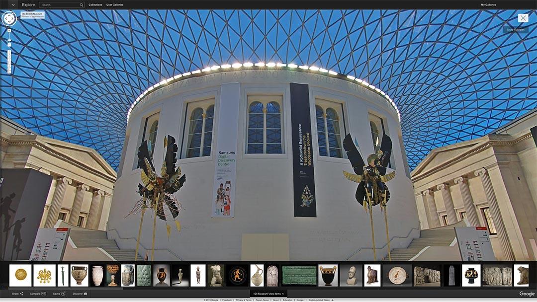 Google 近日與大英博物館(British Museum)合作,讓你足不出戶就可以欣賞到該館的4500多件展品。Google Cultural Institute 網頁截圖