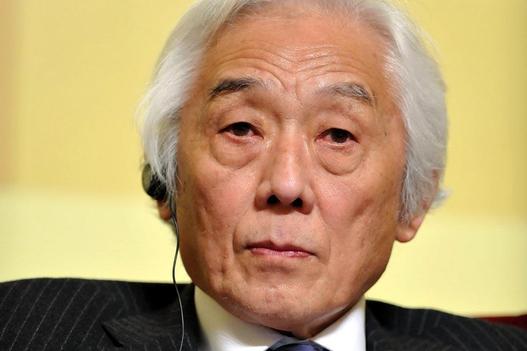 圖為著名經濟學家、美國斯坦福大學教授青木昌彥。攝: Zhang Wei/Imaginechina