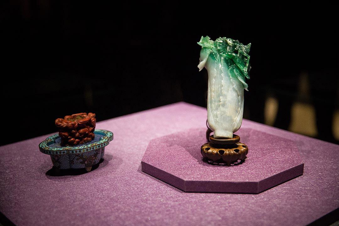 2015年12月28日,嘉義,故宮南院開館試營運,故宮鎮館之寶「翠玉白菜」、「肉形石」輪流在南院展出。攝:Billy H.C. Kwok/端傳媒