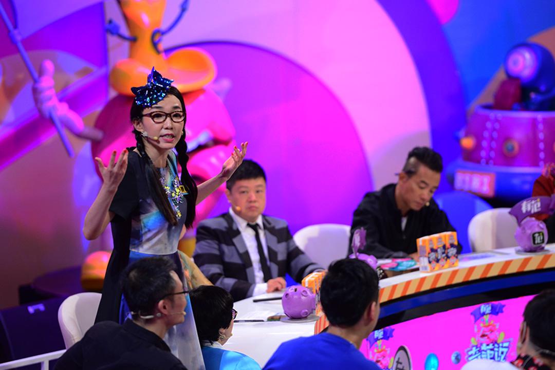 馬薇薇在網路辯論節目《奇葩說》發言。照片由馬薇薇提供