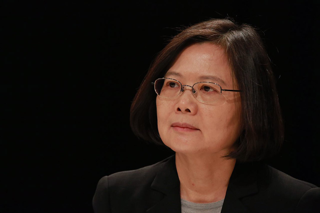 2015年12月27日,台北,民進黨總統候選人蔡英文出席電視選舉辯論。攝:Billy H.C. Kwok/端傳媒
