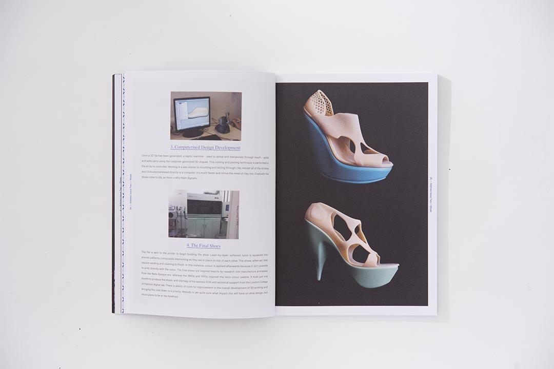 鞋履不只是時尚,還是工藝、設計、人體工學的產品。第二期找來倫敦時裝學院的碩士生Hoon Chung分享最新3D Printing的鞋履製作故事。 (攝影:Lit Ma)