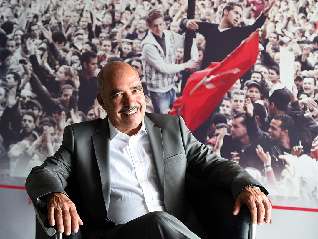突尼西亞「全國對話機構」獲2015年諾貝爾和平獎,圖為其中一個機構——突尼西亞人權聯盟(LTDH)主席 Abdessattar Ben Moussa。攝: FETHI BELAID/AFP