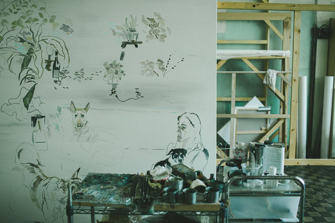藝術家禤善勤的工作室。攝 : 王嘉豪/端傳媒