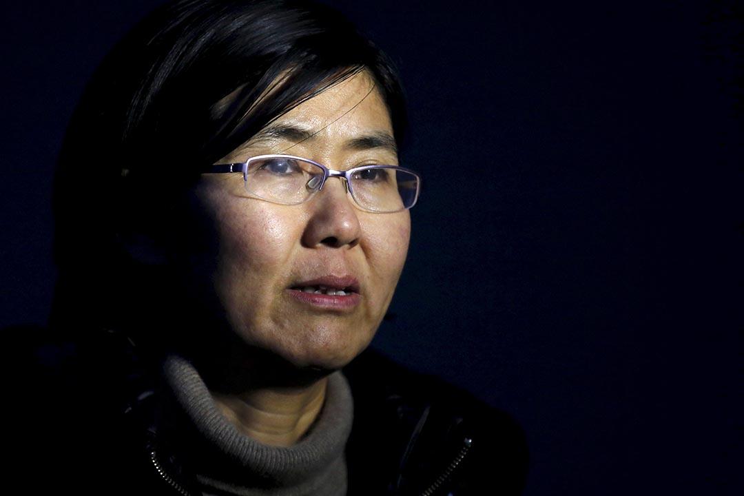 維權律師王宇接受記者訪問。 攝: Kim Kyung-Hoon/ Reuters